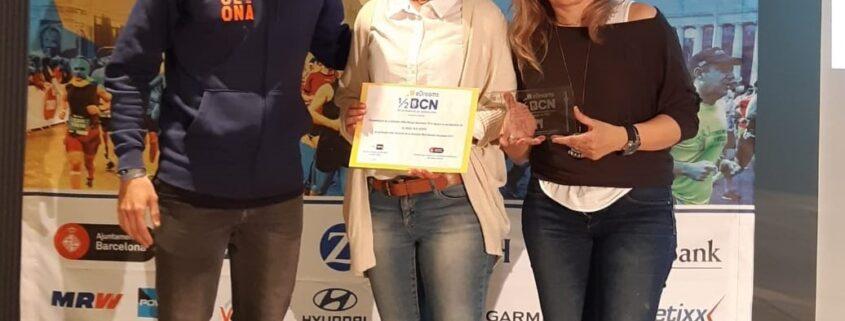 Tercer premi com a grup danimació de la Mitja Maratò